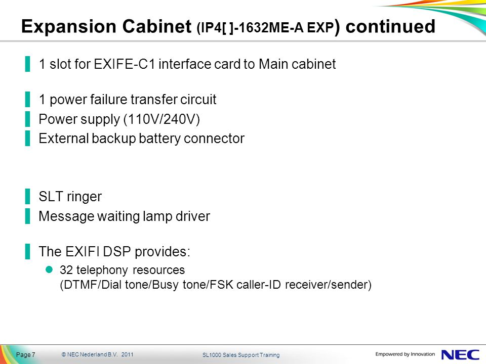 Expansion Cabinet (IP4[ ]-1632ME-A EXP) continued